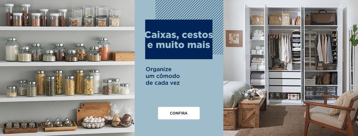 Organizar com caixas, cestos e mito mais | Tok&Stok