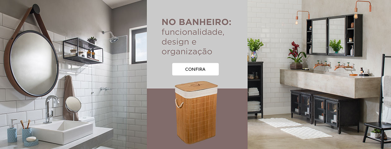 No banheiro: funcionalidade, design e organização | Tok&Stok